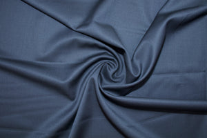 Imported Wool Gabardine - Dark Navy
