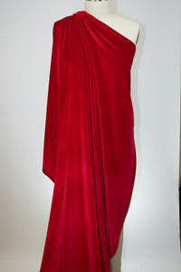 LA Designer Stretch Velvet - Rich Red