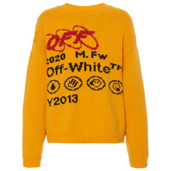 Off White Knit Jumper Yellow