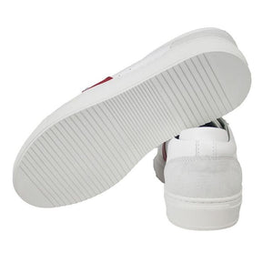 Dunk White/Red Leather - sole view