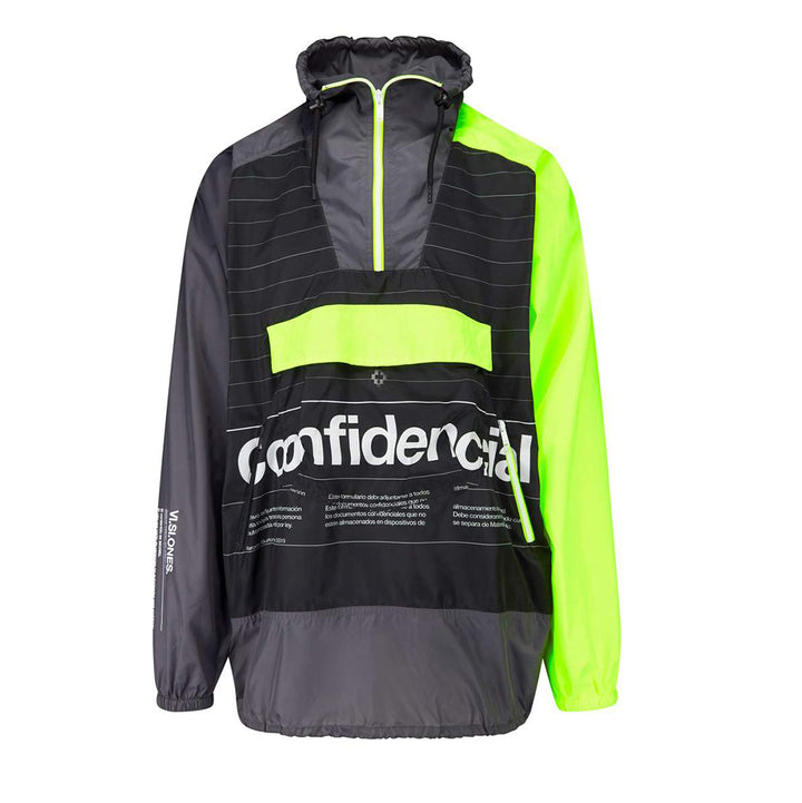 Intel Lettering Windbreaker - Grey Green | Marcelo Burlon