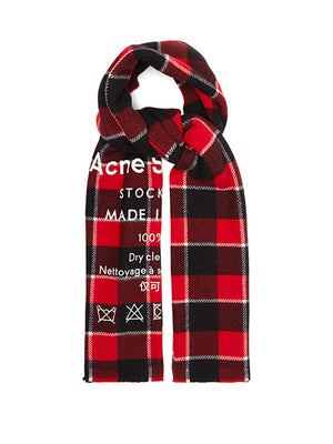 Cassiar Check Scarf - Red/Black | Acne Studios