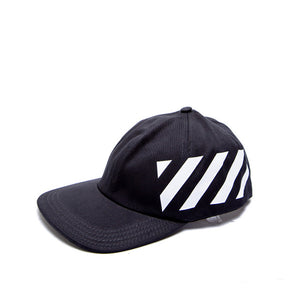 Off White - Diagonal Cap Black