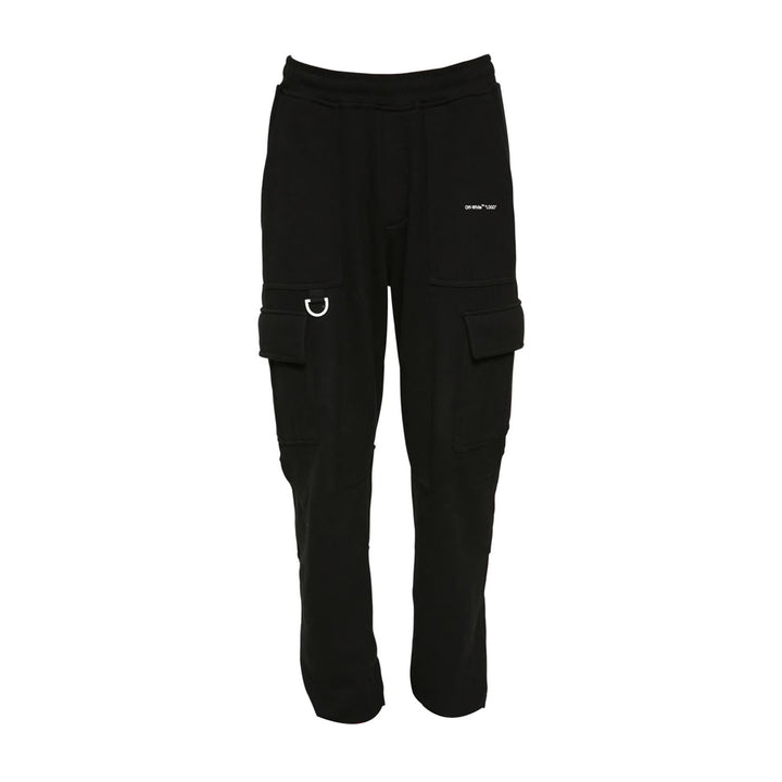 """LOGO"" Cargo Sweat Pants - Black 