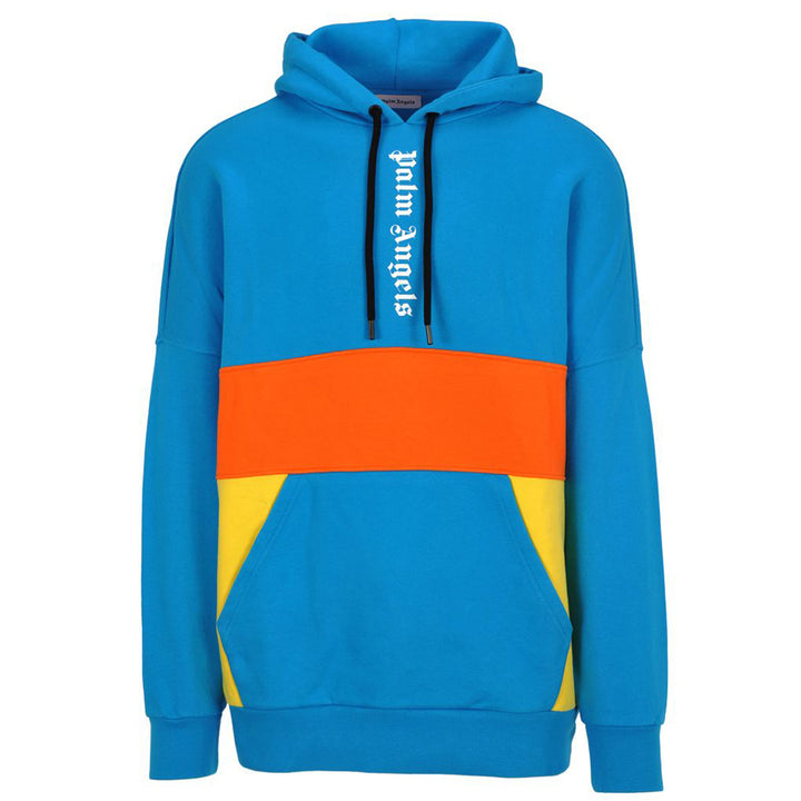 3 Colours Logo Over Hoodie - Blue | Palm Angels