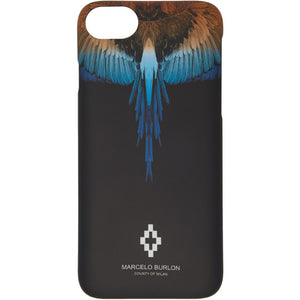 Wings 8 Plus Case iPhone Cover - Black | Marcelo Burlon
