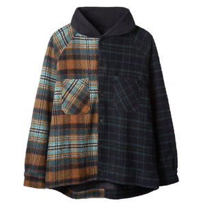 Hooded Flannel Jacket - Plaid/Check | REPRESENT CLO