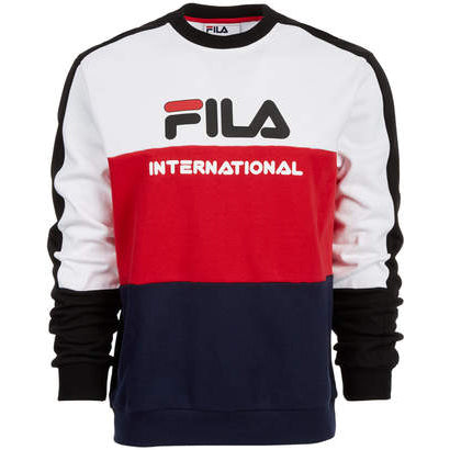 Bravo Oversize Crew Neck - Red/White/Navy | Fila