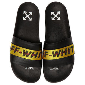 Industrial Belt Sliders - Black Yellow | Off-White