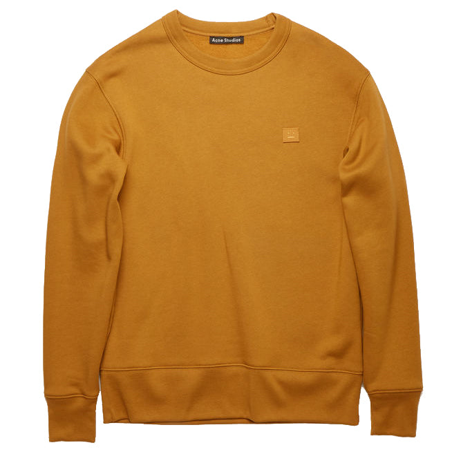 Forba Face Crewneck - Caramel Brown | Acne Studios