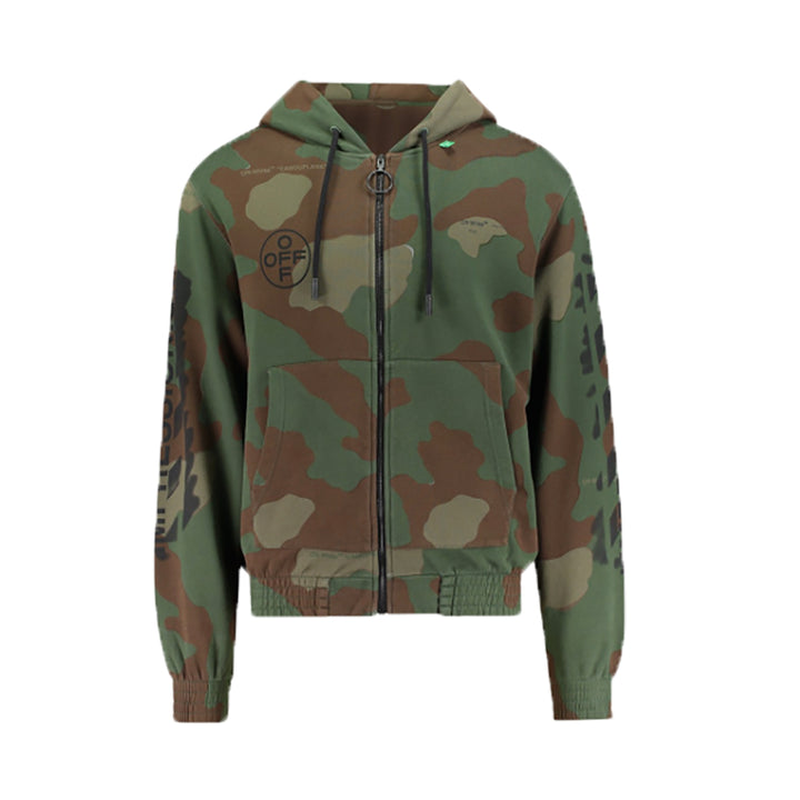 Diagonal Arrow Stencil Camo Zipped Hoodie - Camo | Off-White