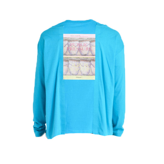Overlapping Effect T-Shirt - Light Blue | Poliquant