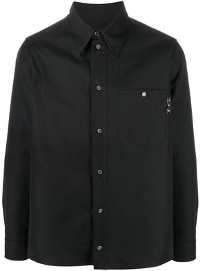 Off-White logo-print work shirt