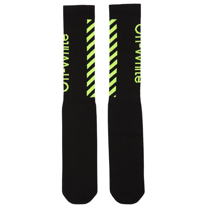 Diagonal Socks - Black | Off-White
