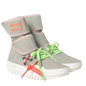 Off White Moto Wrap Sneakers Light Grey
