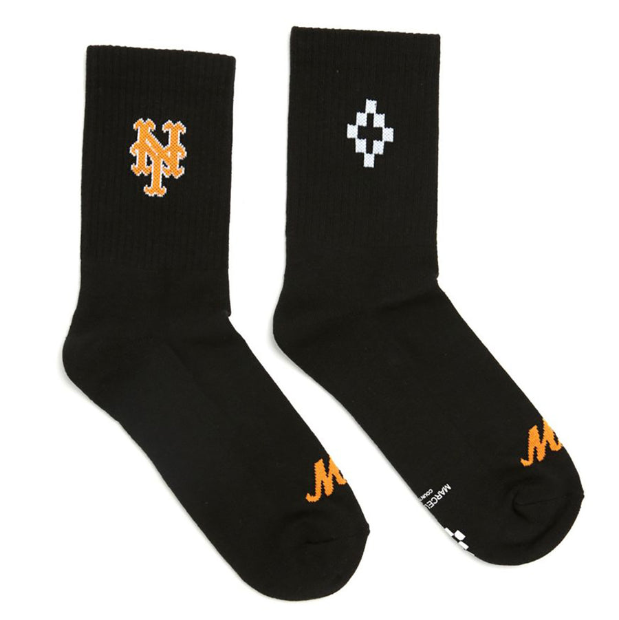 NY Mets Short Socks - Black | Marcelo Burlon