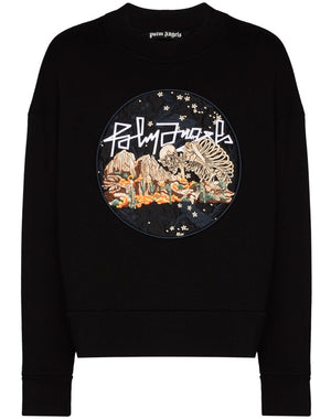 palm angels desert skull sweatshirt black
