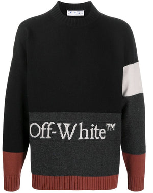 Off-White colour-block knitted jumper