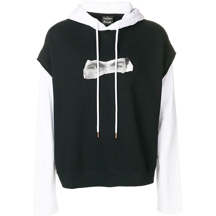 Marcelo Burlon Ali Eyes Hoodie Black/White