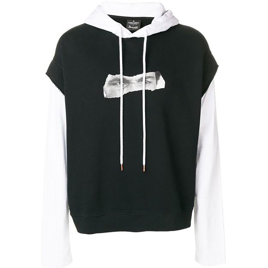Ali Eyes Hoodie - Black White | Marcelo Burlon