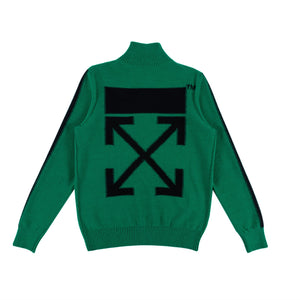 Knitted Zip Turtleneck - Green | Off-White
