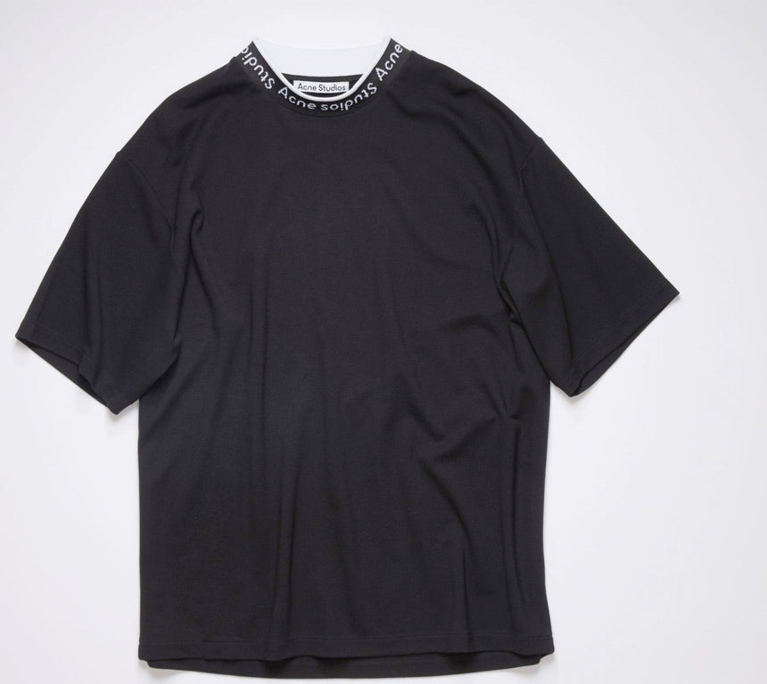 Logo binding t-shirt black
