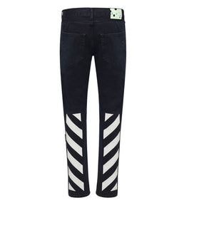 Off-White Diag ECO Slim Jeans Black / White