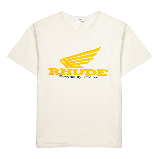Yellow Rhonda Tee - White | RHUDE