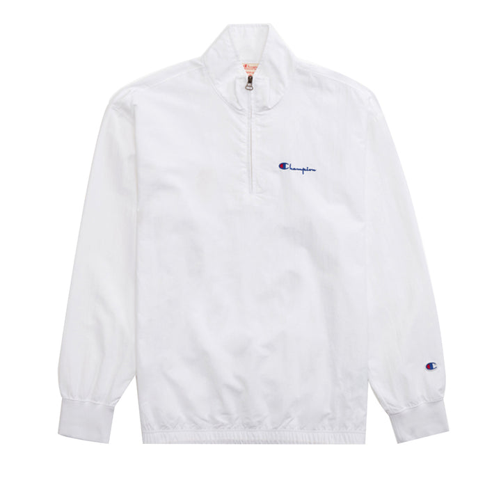 Champion Half Zip-Up High Neck Track Jacket White