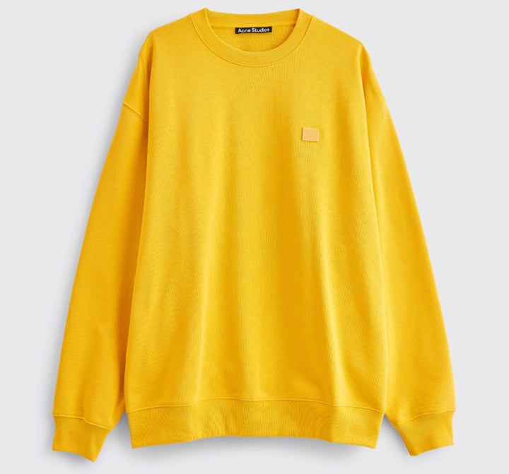ACNE STUDIOS FORBA FACE SWEATSHIRT HONEY YELLOW