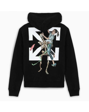 Off-White Pascal skeleton painting hoodie