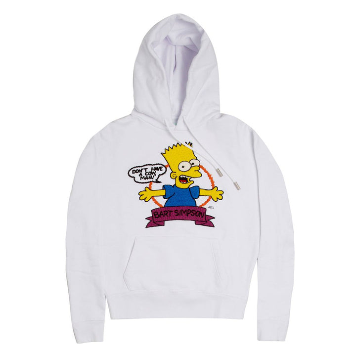 Off White Bart Over Hoodie White
