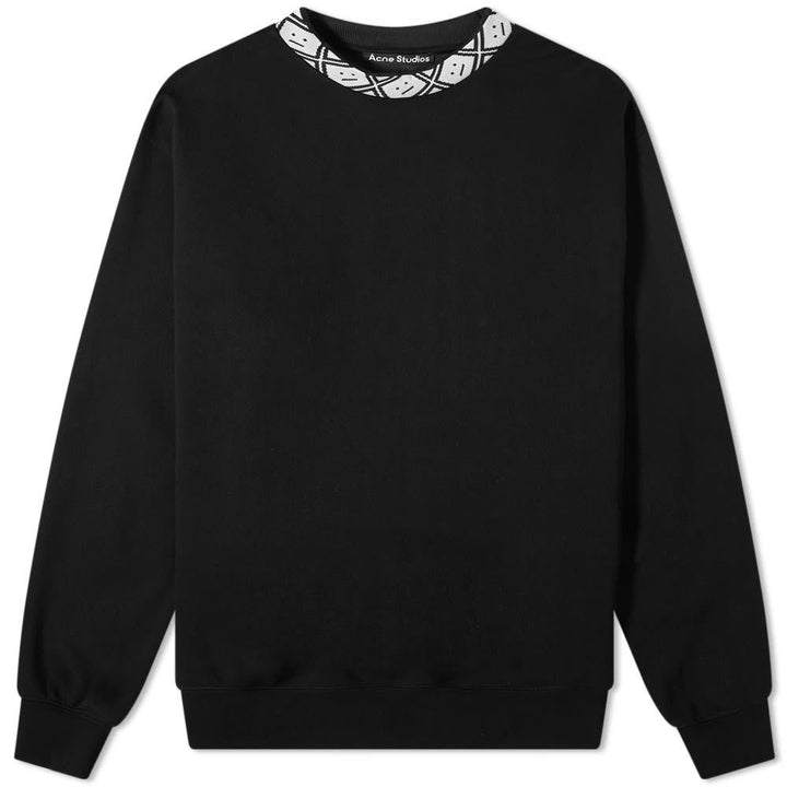 Acne Future rib face black sweater