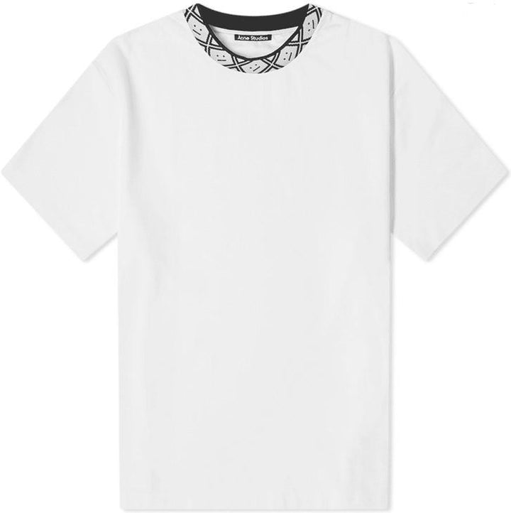 Acne Eternal rib face optic white tee