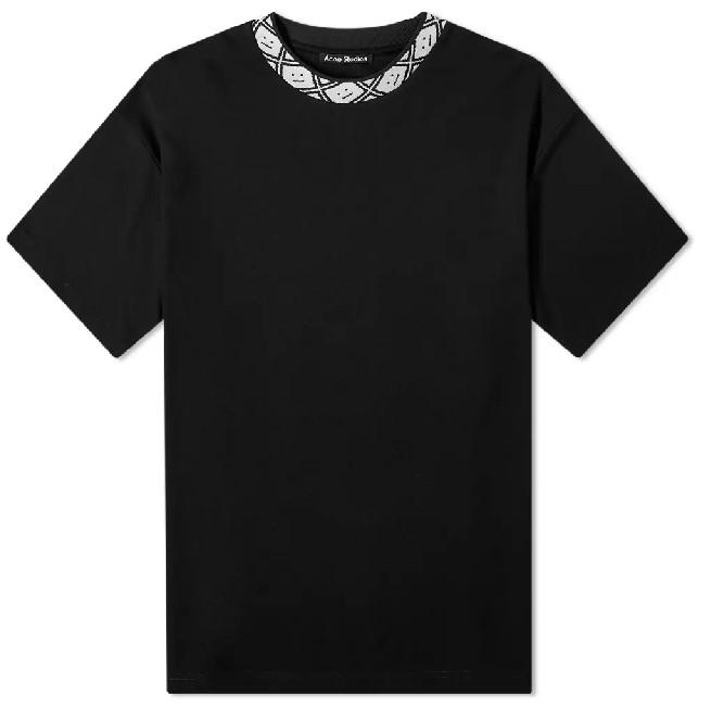 Acne Eternal rib face black tee