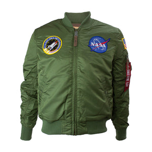 NASA MA-1 Flight Jacket - Sage Green | Alpha Industries