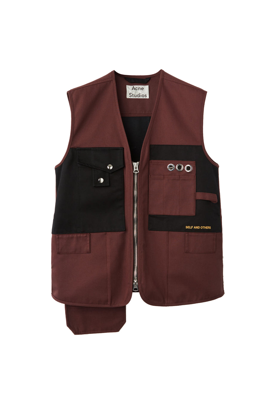 Orly Relaxed Gilet - Brown | Acne Studios