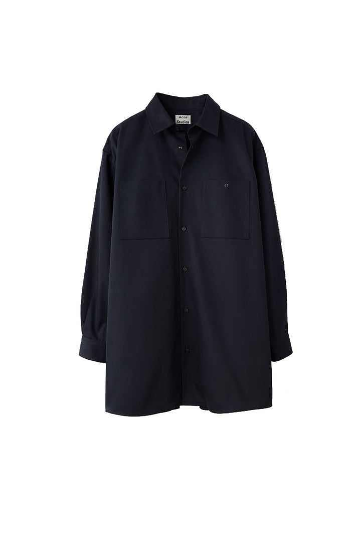 Sabino Oversized Shirt - Navy | Acne Studios