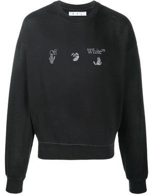 OFF-WHITE - logo print sweatshirt