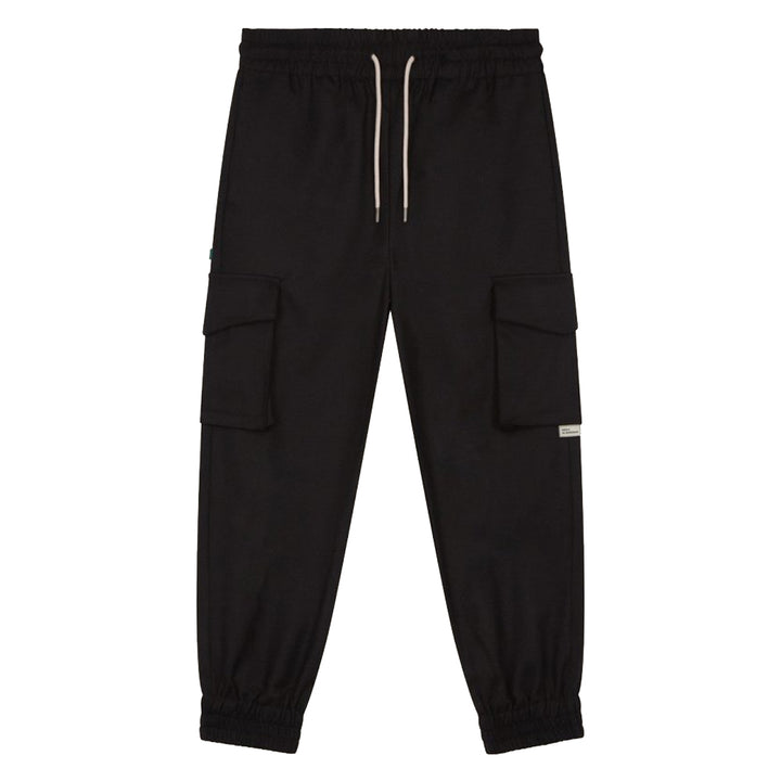 Cargo Cuffed Pants - Black | Drôle De Monsieur