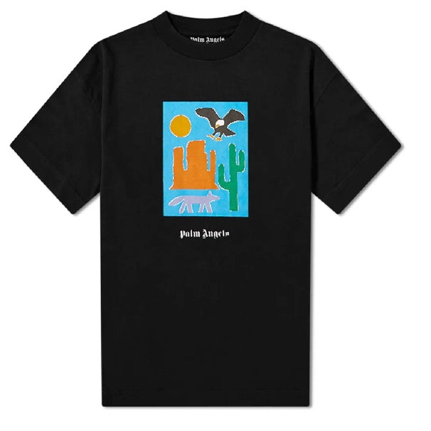 Palm Angels New Folk Over Tee Black / Multicolour