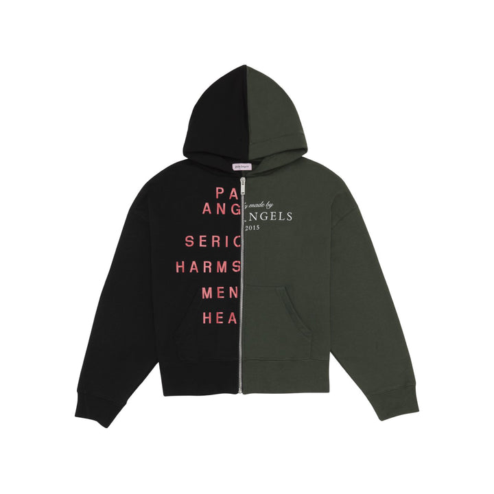 Mental Health Split Zip Hoody - Black | Palm Angels