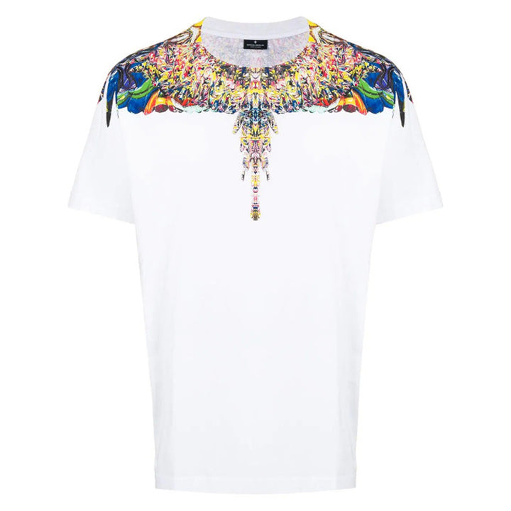 Multicolour Wings T-shirt - White | Marcelo Burlon