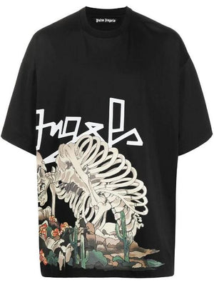 Palm Angels Desert Skull Over Tee Black / Multicolour