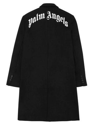 Palm Angels Logo Classic Coat Black / White