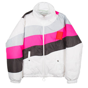 Puffer Anorak - White Grey Pink | Off-White