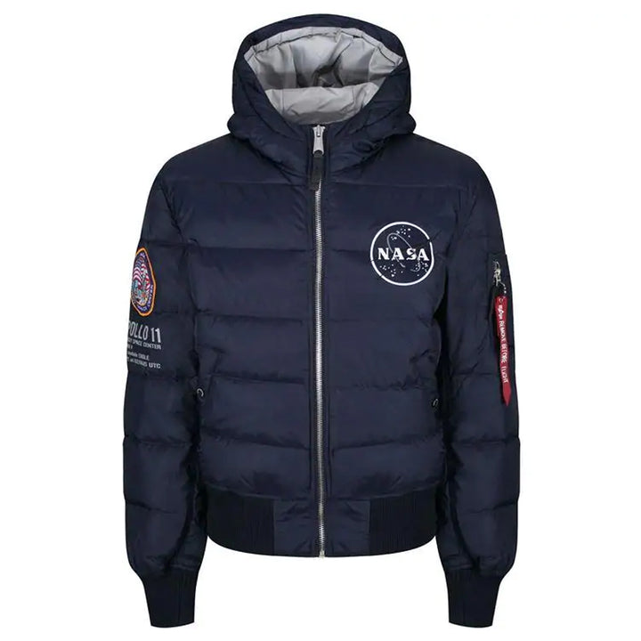 Alpha Industries Hooded Puffer Apollo 11 Rep Blue