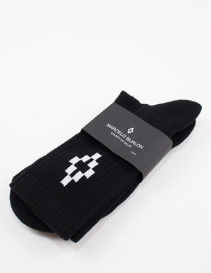 Marcelo Burlon County Of Milan - Cruz Short Socks - Black/White