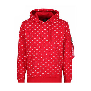 Alpha Industries All Over Hoodie Red