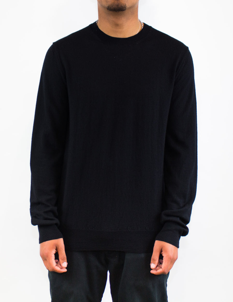 CDG SHIRT Crew Neck Knitwear Black - Front